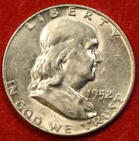 1952 D FRANKLIN  HALF DOLLAR AU BEAUTIFUL COIN CHECK OUT STORE   $ FH121