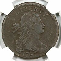 1797 S-142 R5 NGC EXTRA FINE  DETAILS DRAPED BUST LARGE CENT COIN 1C