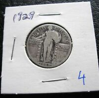 1929, 1927  STANDING LIBERTY QUARTERS SILVER   PHILADELPHIA 2 COINS