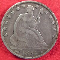 1854 O SEATED LIBERTY HALF DOLLAR WITH ARROWS SCRATCHES & GOUGES 2030