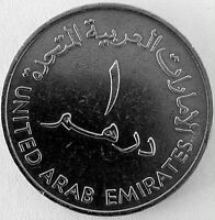 UNITED ARAB EMIRATES 1409 1989 ONE DIRHAM NICKLE COIN. 28 YEARS OLD
