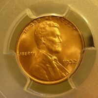 1932  PCGS  MS 65 RD  LINCOLN WHEAT CENT.  LISTED AT $120.00  NICE PIECE