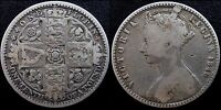 NARKYPOON 'S LOWER MIDDLE GRADE 1849 VICTORIA STERLING SILVER 'GODLESS' FLORIN