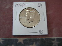 1997 D BU KENNEDY HALF DOLLAR NICE COIN FROM MINT SET BF2