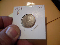 1933 D LINCOLN CENT  XF