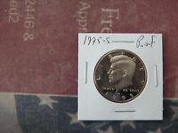 1995 S PROOF KENNEDY HALF DOLLAR NICE CAMEO COIN FROM PROOF SET A