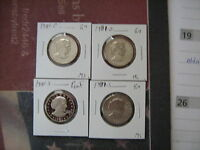 1981 PDSS PROOF & BU S.B. ANTHONY DOLLARS 4 COINS A