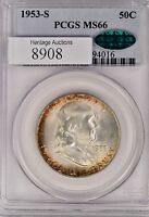 1953 S FRANKLIN HALF  MS66   PCGS   CAC
