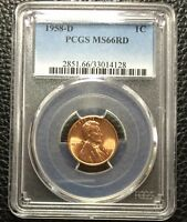 1958 D PCGS MS66RD LINCOLN WHEAT CENT 1C