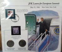 1980 KENNEDY HALVES ON A COMMEMORATIVE PANEL