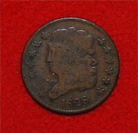 1828 HALF CENT CLASSIC HEAD 13 STARS ONLY 606,000 MINTED