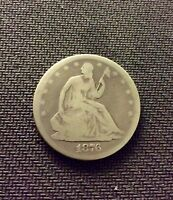 1876 S SEATED LIBERTY SILVER HALF DOLLAR   INV2495