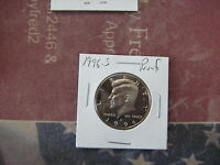 1996 S PROOF KENNEDY HALF DOLLAR NICE CAMEO COIN FROM PROOF SET A