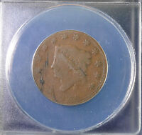 1830 1C CORONET HEAD LARGE CENT N-1 ANACS G 4 DETAILS 5271298