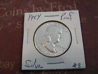 1954 PROOF FRANKLIN SILVER HALF DOLLAR  8 NICE COIN FROM PROOF SET M1225