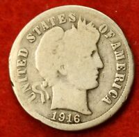 1916 S BARBER / LIBERTY HEAD DIME G COLLECTOR COIN GIFT CHECK OUT STORE BD356