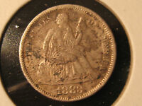 1883 SEATED DIME 10C   90 SILVER