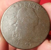 1797 GRIPPED EDGE LARGE CENT S-120B 1C VARIETY