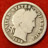 1899 P BARBER / LIBERTY HEAD DIME G COLLECTOR COIN GIFT CHECK OUT STORE BD308