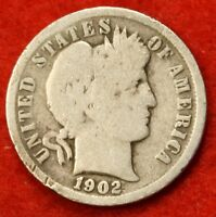 1902 P BARBER / LIBERTY HEAD DIME G COLLECTOR COIN GIFT CHECK OUT STORE BD248