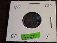 1880  CANADIAN SILVER FIVE CENT COIN       ZBH1674