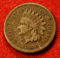 1859 CN INDIAN HEAD CENT PENNY VF BETTER  DATE COLLECTOR COIN GIFT IH460