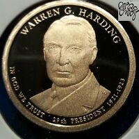 2014 S $1 WARREN G. HARDING DC PROOF PRESIDENTIAL DOLLAR