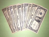 LOT OF 10 1935 & 1957 $1 SILVER CERTIFICATES  HOT NOTE LOT  BEST EBAY PRICE