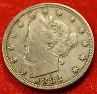 1883 NO/CENTS LIBERTY NICKEL VF  DATE GREAT COLLECTOR COIN GIFT  LN451
