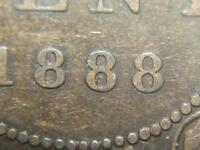 1888 BEAD PUNCHED 8 CANADIAN LARGE PENNY QUEEN VICTORIA OLD BRONZE COIN LOT BP8