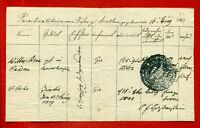 1843 GERMANY BILL OF EXCHANGE  2931