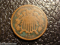 POST CIVIL WAR 1868 2 CENT PIECE WE COMBINE ON SHIPPING