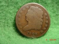 1828 CLASSIC HEAD HALF CENT  GOOD  13 STARS
