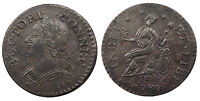 1787 CONNECTICUT COPPER COLONIAL COINAGE LAUGHING HEAD; MILLER 6.1 M AU