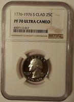 1976 S CLAD WASHINGTON NGC PF 70 ULTRA CAMEO  1776 1976 BICENTENNIAL RARITY