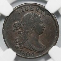 1804 C 9 NGC VF 35 LDS DRAPED BUST HALF CENT COIN 1/2C