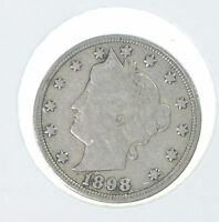1898 LIBERTY V NICKEL,  IN ANY GRADE FOR THE DATE, SHIPS FREE
