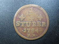 GERMANY JULICH BERG 1/4 STUBER 1784 BRONZE GERMAN STATE BAVARIA EUROPE COIN