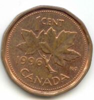 CANADA 1996 PENNY CANADIAN 1 CENT 1C EXACT COIN SHOWN