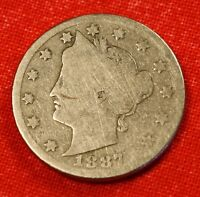 1887 LIBERTY V NICKEL G  DATE BEAUTIFUL COLLECTOR COIN GIFT LN321