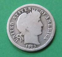 1913 10C BARBER DIME   90 SILVER   FREE DOMESTIC SHIPPING