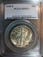 1940-S WALKING LIBERTY HALF DOLLAR PCGS MINT STATE 65 CERT 29090230