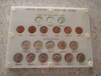 US WARTIME COIN SET 1942  1945 UNCIRCULATED SILVER NICKELS & 1943  1945 CENTS