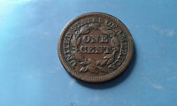 US LARGE ONE CENT 1849 NICE GRADE