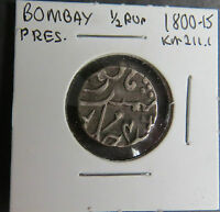 INDIA 1800 1815 1/2 RUPEE BOMBAY PRESIDENCY 146 SEE PICTURES