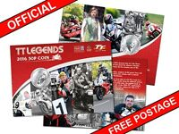 2016 ISLE OF MAN OFFICIAL TT LEGENDS COLLECTABLE 50P COIN GIFT PACK  AH70