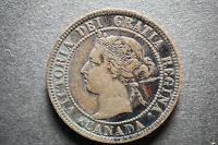 5 CANADA LARGE ONE CENT COINS   1896 1897 1898 1899 1900   VF / XF