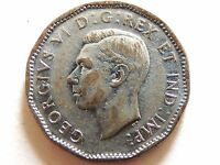 1945 CANADIAN FIVE 5 CENT COIN