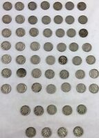 1929 S 1929 D 1929 P BUFFALO NICKEL 5C COIN LOT 58 TOTAL 2019