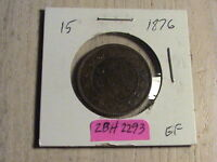 1876  H CANADIAN LARGE CENT   EXCELLENT CONDITION   ZBH2293